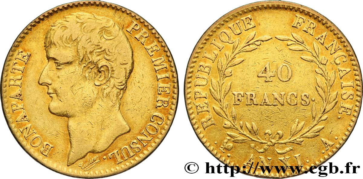 40 francs or Bonaparte Premier Consul 1803 Paris F.536/1 TTB40