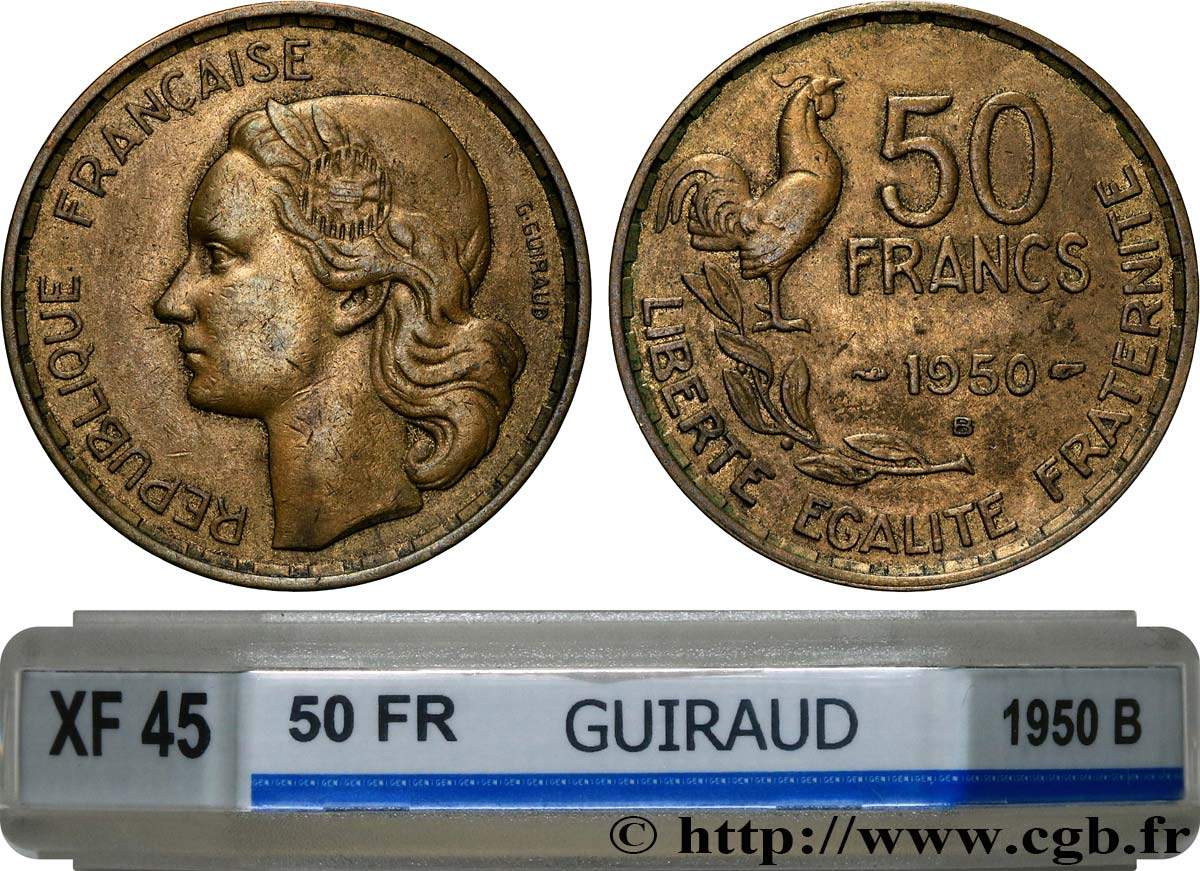 50 francs Guiraud 1950 Beaumont-Le-Roger F.425/4 XF45 GENI