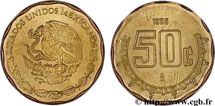 MEXIQUE 50 Centavos aigle 1995 Mexico SPL