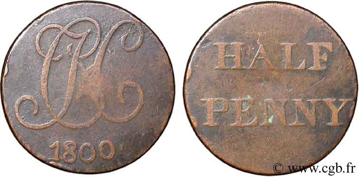 ROYAUME-UNI (TOKENS) 1/2 Penny Christ Hospital (Middlesex) 1800  TB