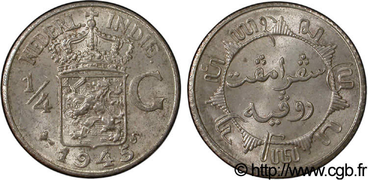 INDES NEERLANDAISES 1/4 Gulden 1945 San Francisco - S SUP