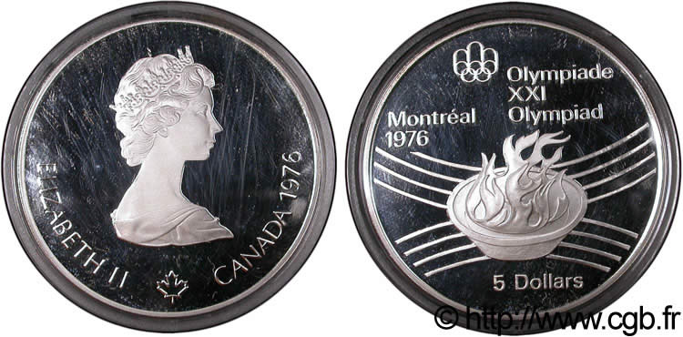 CANADA 5 Dollars BE JO Montréal 1976 flamme olympique / Elisabeth II 1976  FDC