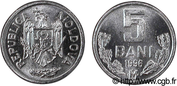 MOLDAVIE 5 Bani 1996  SPL