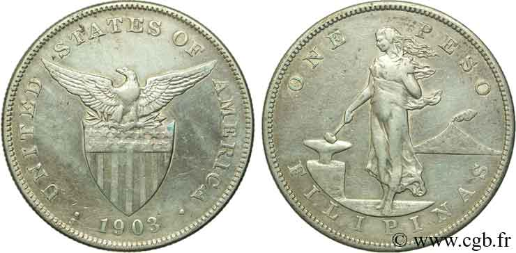 PHILIPPINES 1 Peso - Administration Américaine 1903 San Francisco - S TTB