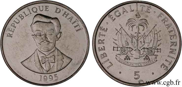 HAÏTI 5 Centimes armes / Charlemagne Peralte 1995  SPL