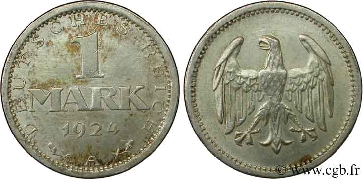 ALLEMAGNE 1 Mark aigle 1924 Berlin SUP