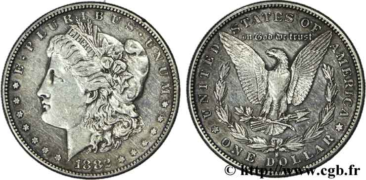 ÉTATS-UNIS D AMÉRIQUE 1 Dollar type Morgan 1882 San Francisco - S TTB