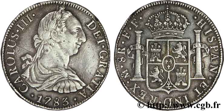 MEXIQUE 8 Reales Charles III FF 1783 Mexico TTB