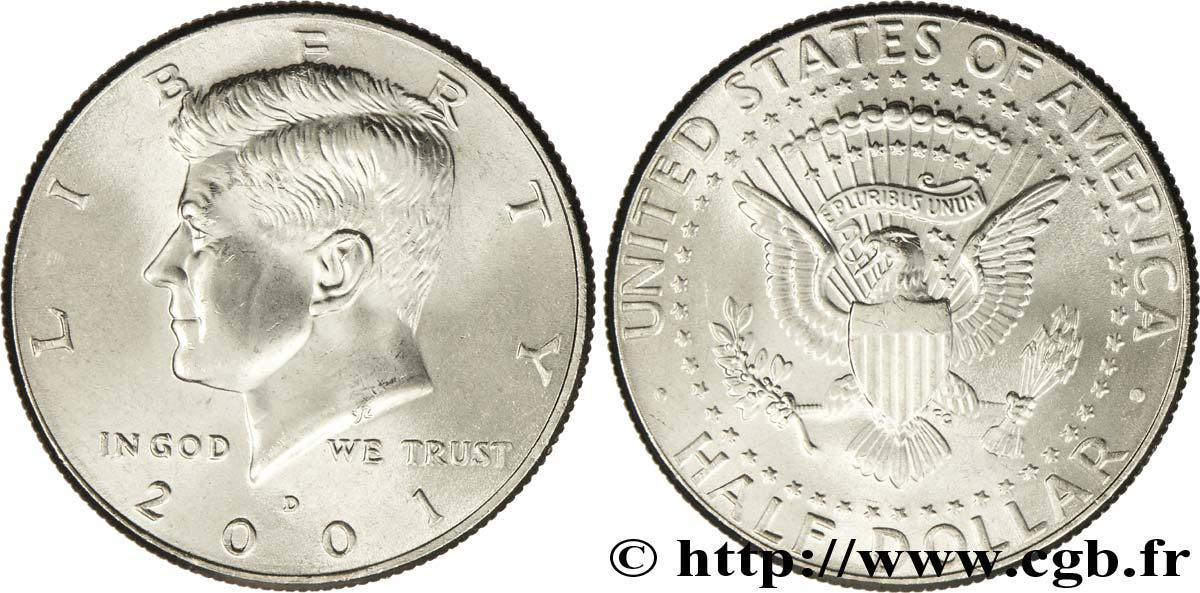 UNITED STATES OF AMERICA 1/2 Dollar Kennedy 2001 Denver