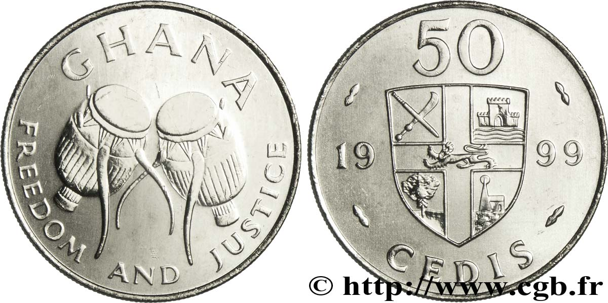 GHANA 50 Cedis tambours traditionnels 1999  SPL