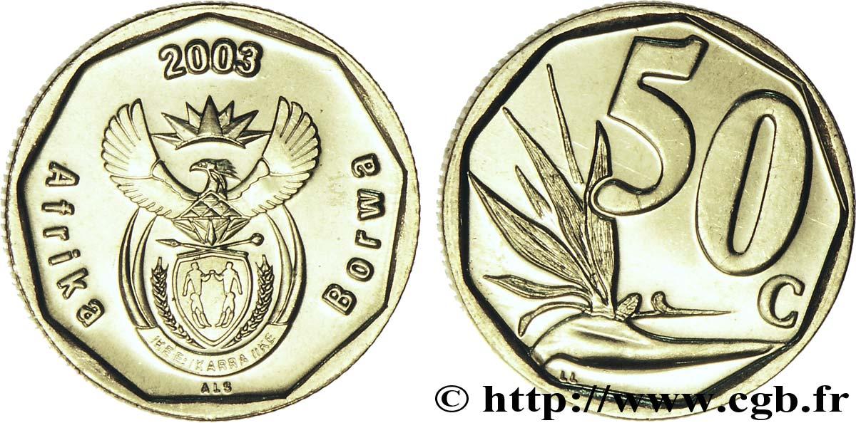 south africa 50 cents embl me fleur oiseau de paradis 2003 fwo 158292 world coins. Black Bedroom Furniture Sets. Home Design Ideas