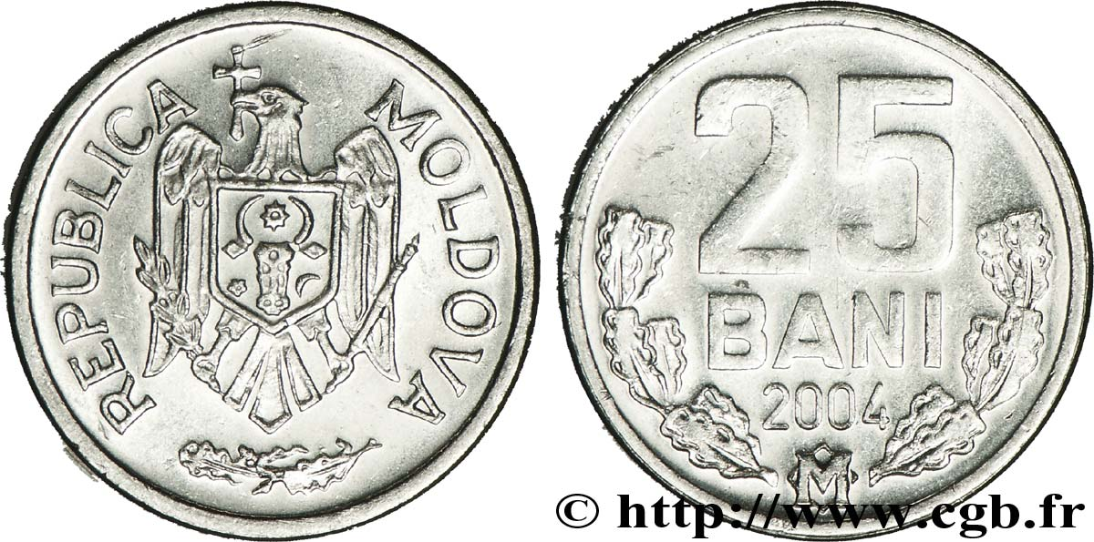MOLDAVIE 25 Bani 2004  SPL
