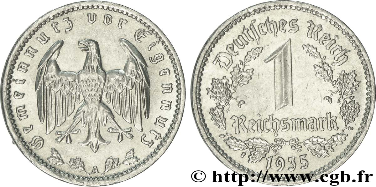 ALLEMAGNE 1 Reichsmark aigle 1935 Berlin SUP