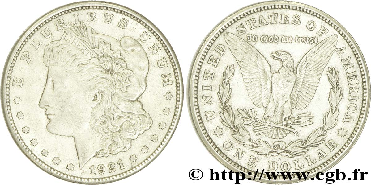 ÉTATS-UNIS D AMÉRIQUE 1 Dollar type Morgan 1921 San Francisco - S TTB