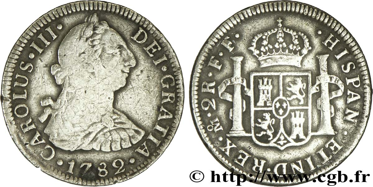 MEXIQUE 2 Reales Charles III 1782 Mexico TB+