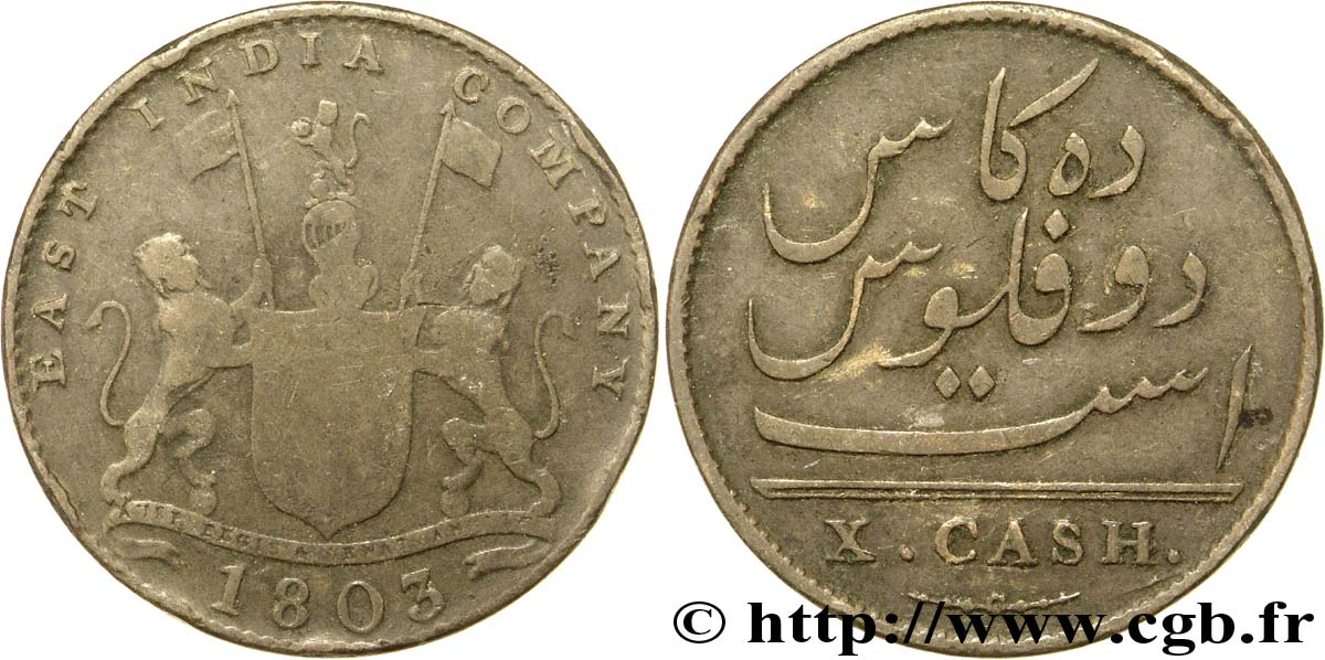 INDE 10 Cash Madras East India Company 1803  TB