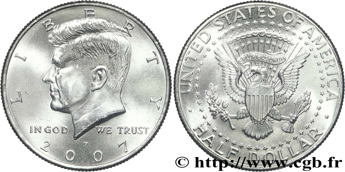 UNITED STATES OF AMERICA 1/2 Dollar Kennedy 2007 Philadelphie - P MS