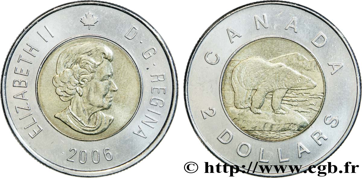 CANADA 2 Dollars Elisabeth II / ours polaire 2006  SUP