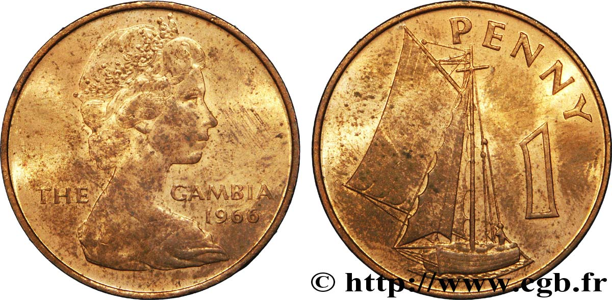 GAMBIE 1 Penny Elisabeth II / voilier 1966  SUP