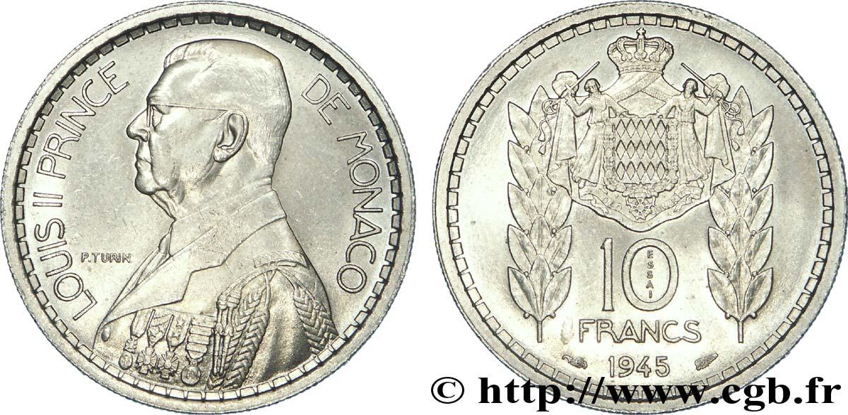 monaco essai de 10 francs louis ii 1945 paris fwo 206794 world coins. Black Bedroom Furniture Sets. Home Design Ideas
