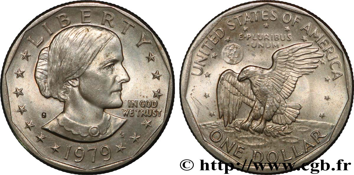 ÉTATS-UNIS D AMÉRIQUE 1 Dollar Susan B. Anthony 1979 San Francisco - S TTB+