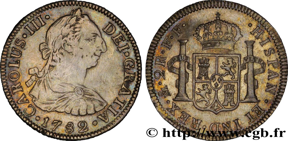 MEXIQUE 2 Reales Charles III 1782 Mexico TTB+