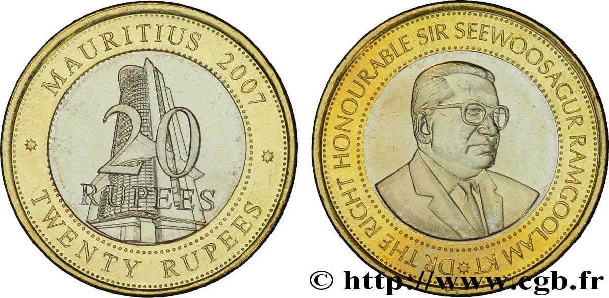 MAURITIUS 20 Roupies siège de la Bank of Mauritius / Sir Seewoosagur  Ramgoolam 2007