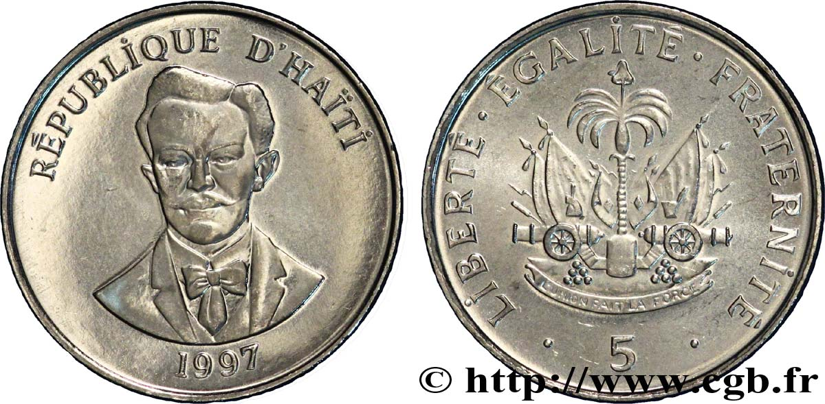 HAÏTI 5 Centimes armes / Charlemagne Peralte 1997  SPL