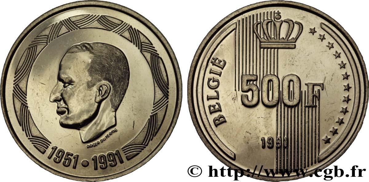 BELGIUM 500 Francs Proof légende flamande 40 ans de règne du roi Baudouin 1991 Bruxelles