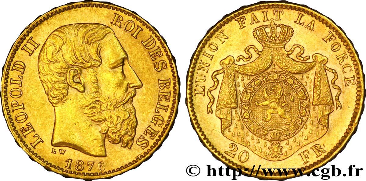 photo 20 francs or belge 1876