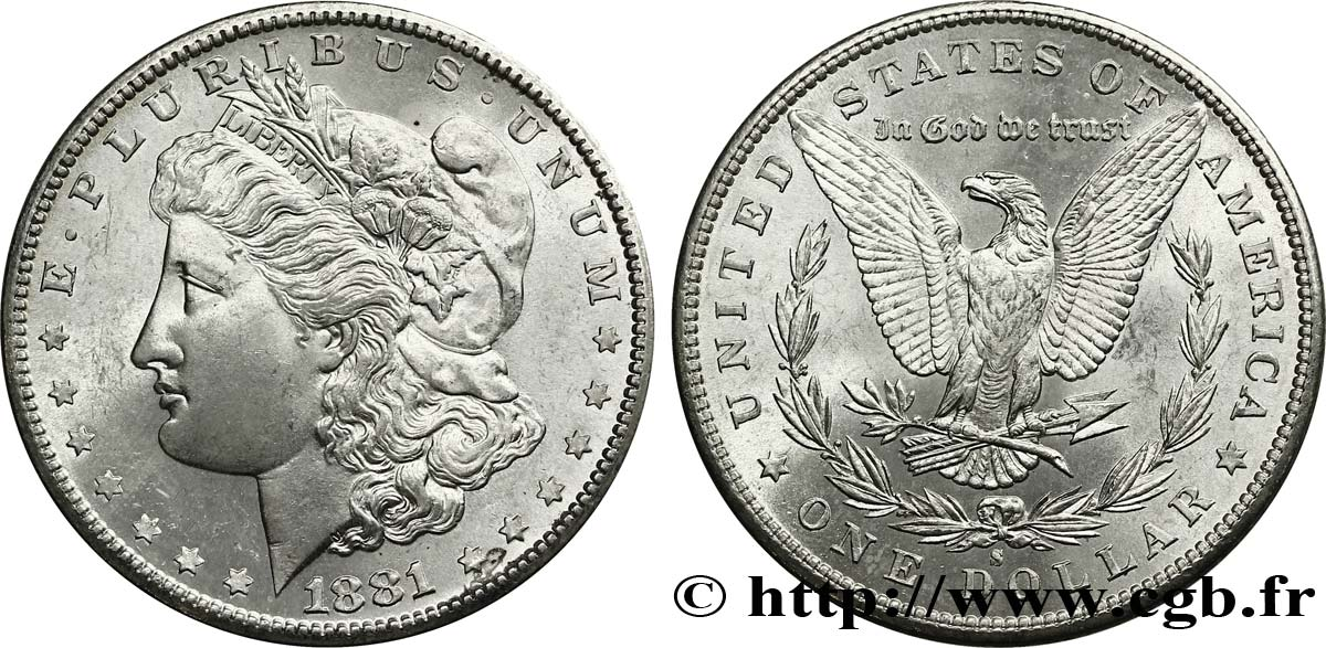 ÉTATS-UNIS D AMÉRIQUE 1 Dollar type Morgan 1881 San Francisco - S SPL64