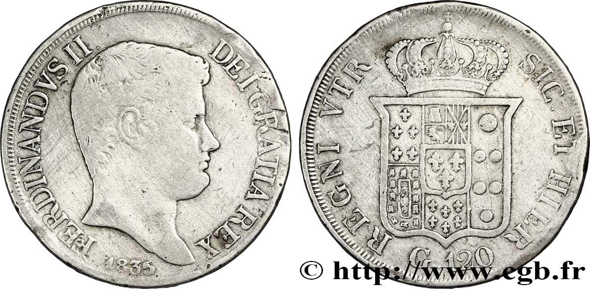 E-auction 32-11353 - ITALIE - ROYAUME DES DEUX-SICILES 120 Grana Ferdinand II, roi de Naples et Sicile 1835 Naples