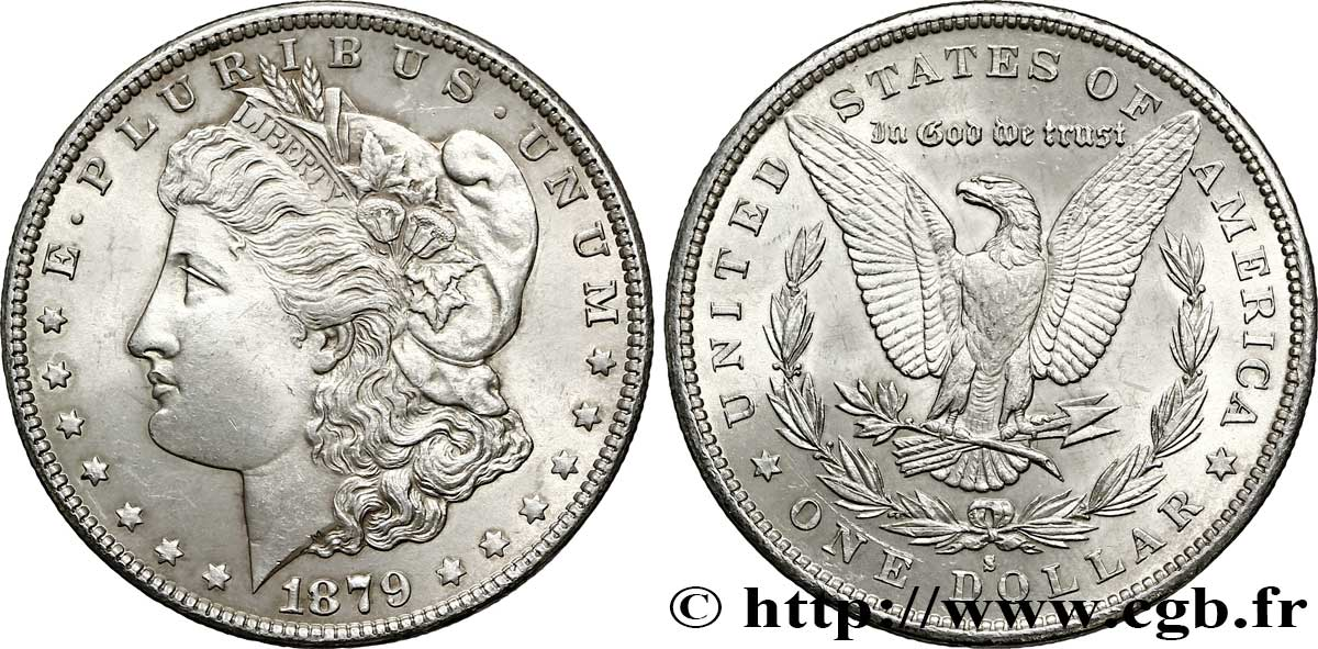 ÉTATS-UNIS D AMÉRIQUE 1 Dollar type Morgan 3e revers 1879 San Francisco SUP