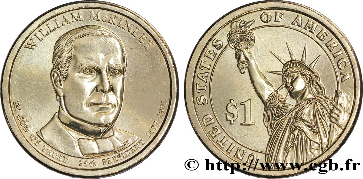 ÉTATS-UNIS D AMÉRIQUE 1 Dollar William McKinley tranche A 2013 Denver SPL