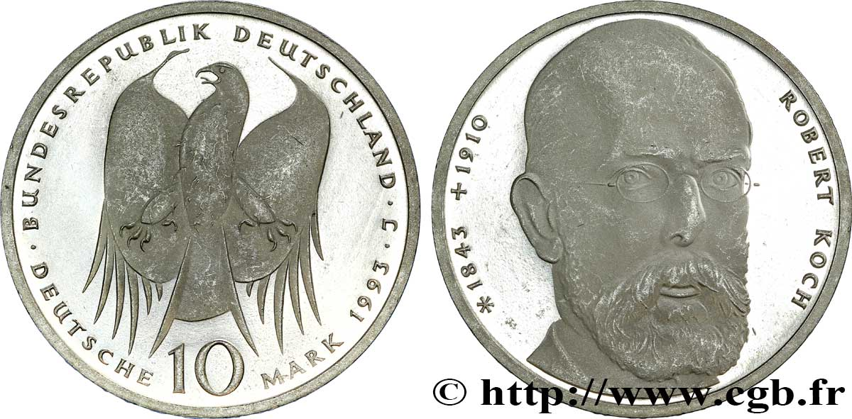 ALLEMAGNE 10 Mark Proof 1993 Hambourg - J SUP