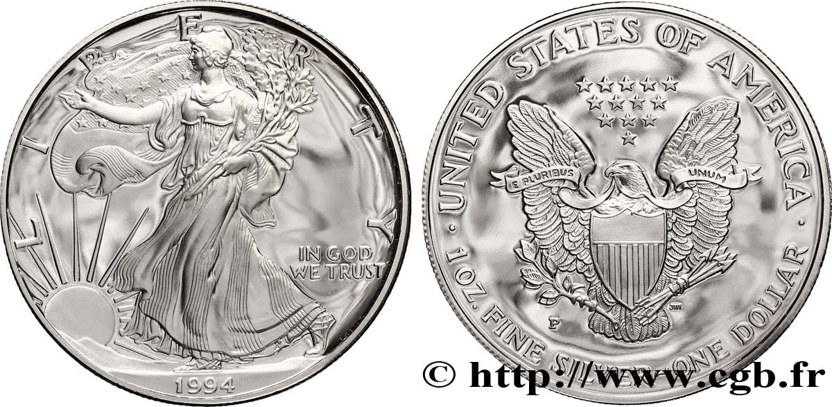ÉTATS-UNIS D AMÉRIQUE 1 Dollar Proof type Silver Eagle 1994 Philadelphie - P SPL