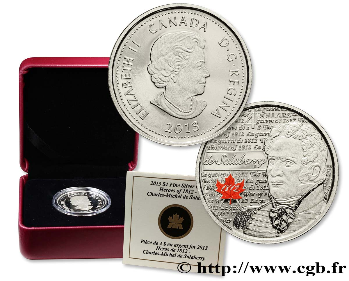 CANADA 4 Dollars Proof Charles-Michel d Irumberry de Salaberry 2013  FDC