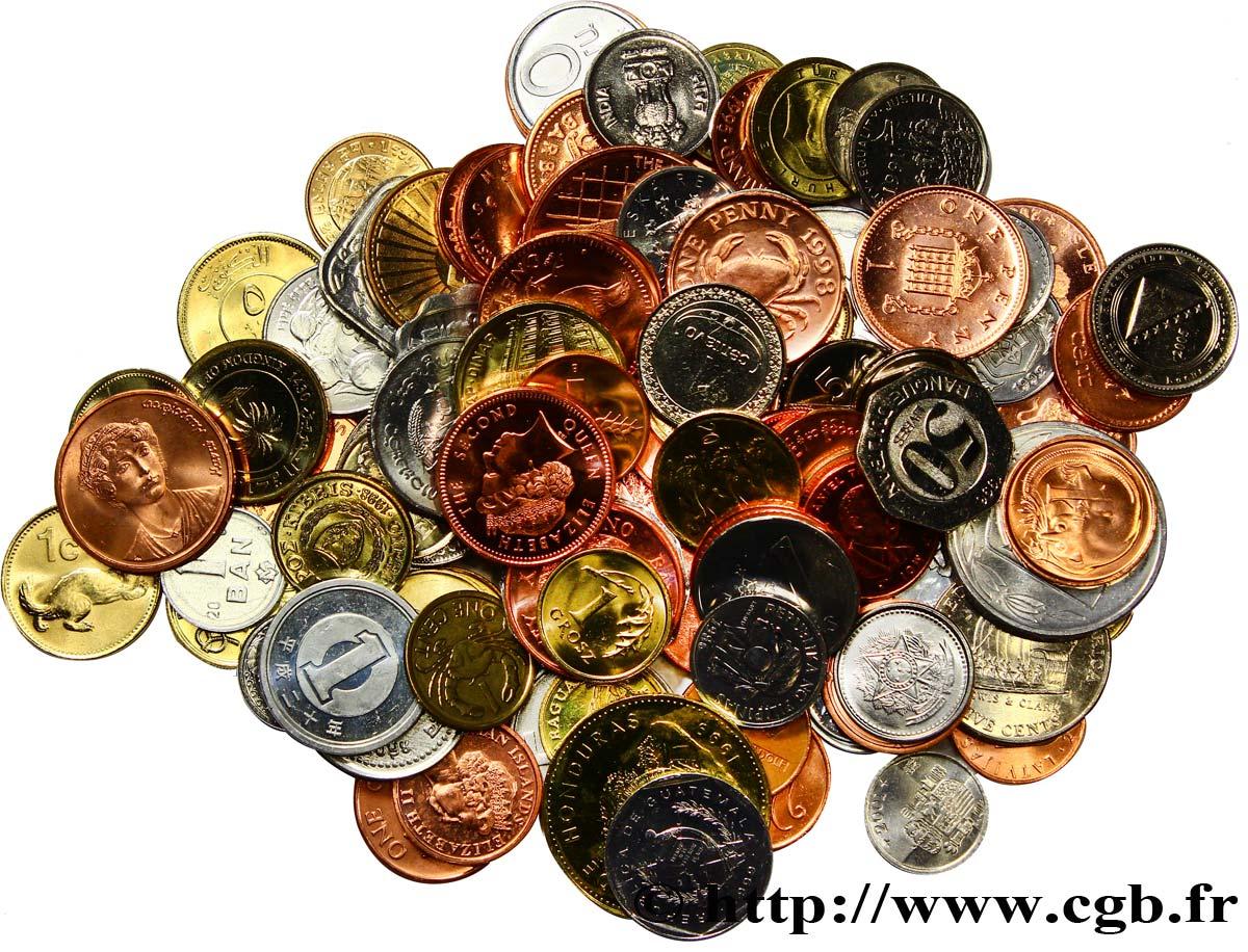 LOTS Lot de 100 monnaies de 100 pays Années diverses