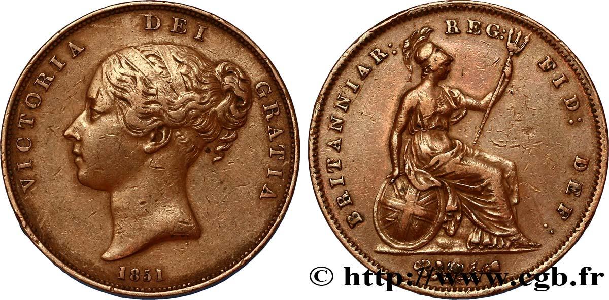 "UNITED KINGDOM 1 Penny Victoria ""tête jeune"" 1851 fwo_312179"