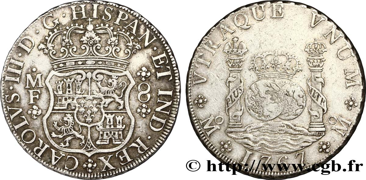 MEXIQUE 8 Reales Charles III 1767 Mexico TTB