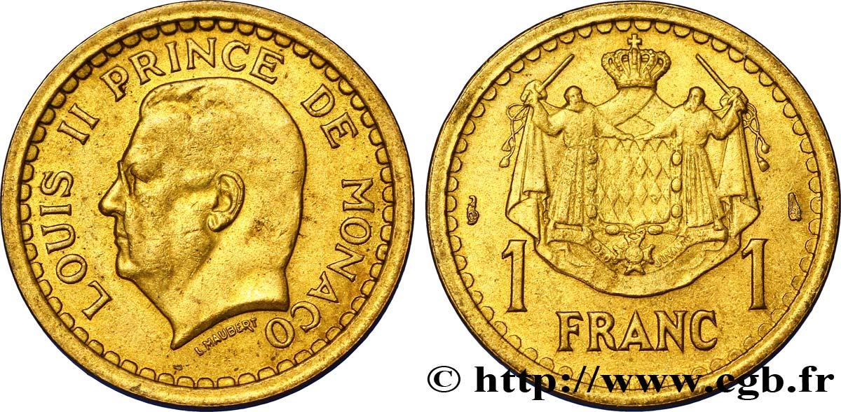 etat MONACO  1  franc 1943    bronze alu