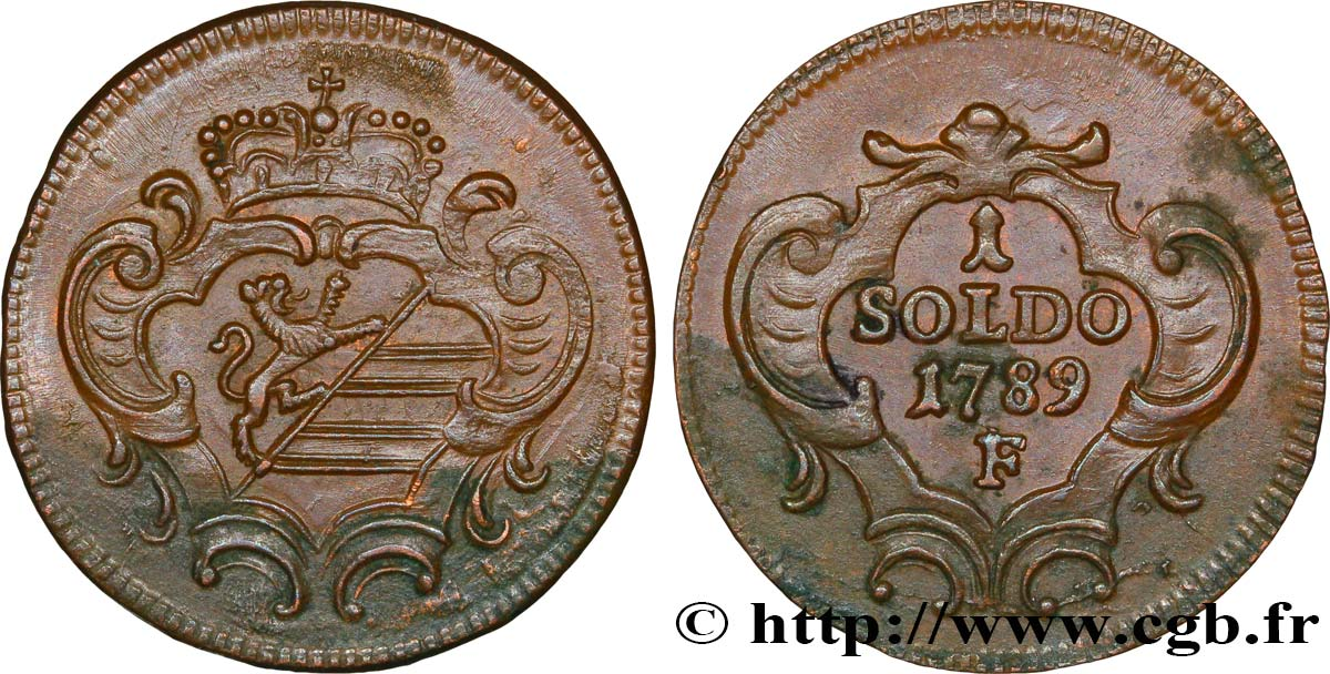 ITALY - GORIZIA 1 Soldo Gorizia armes de la ville 1789 Hall - F EF