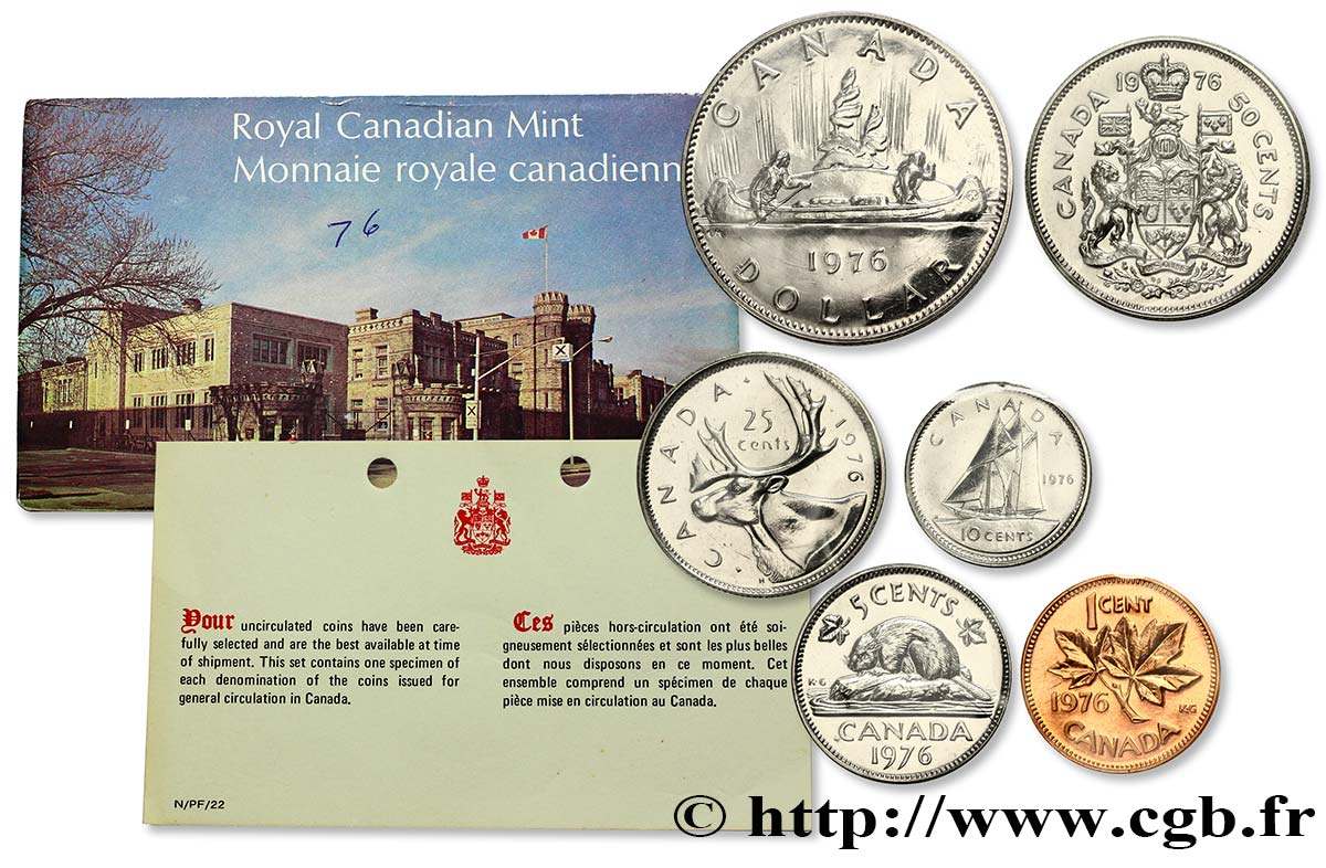 CANADA Série FDC 1976 1976  FDC