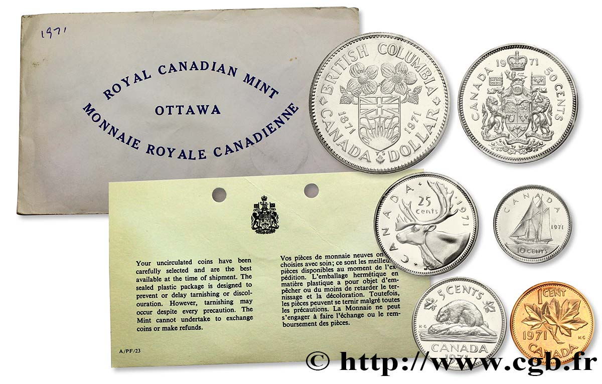 CANADA Série FDC 1971 1971  FDC