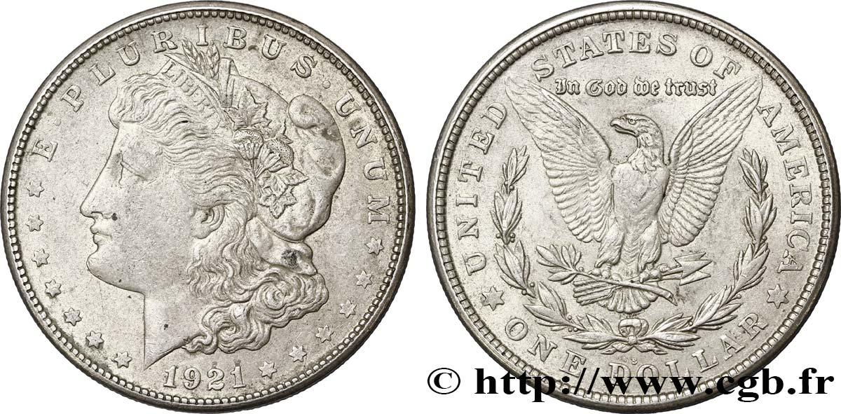 ÉTATS-UNIS D AMÉRIQUE 1 Dollar type Morgan 1921 San Francisco TTB+