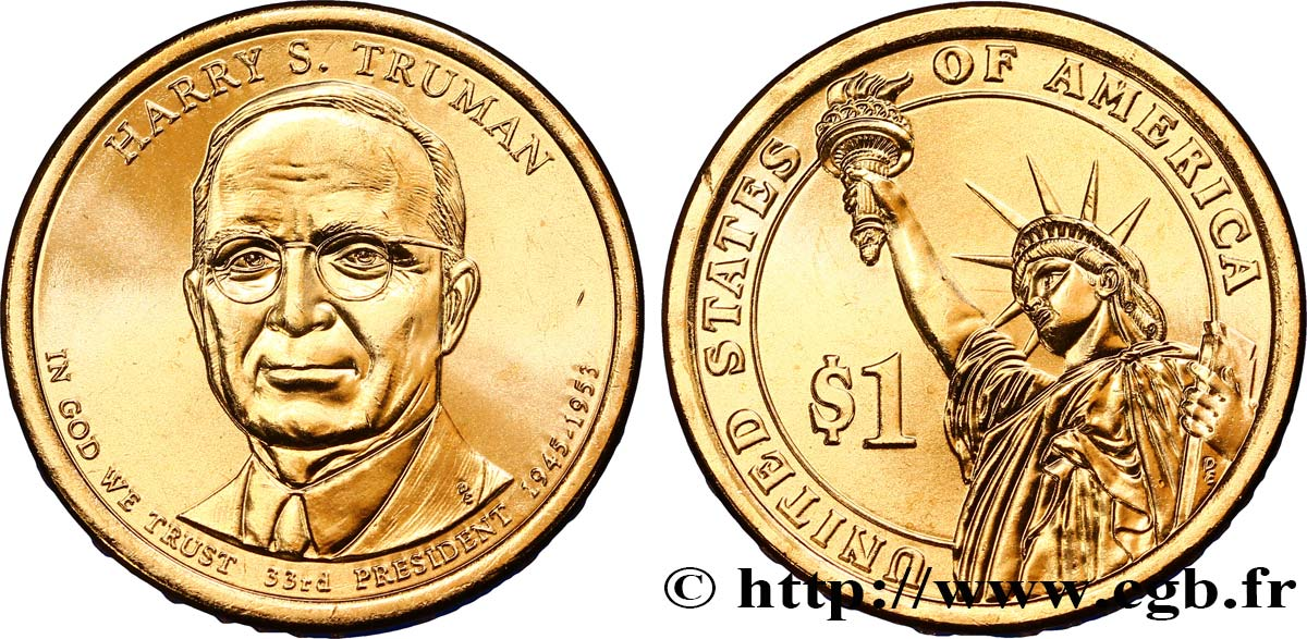 UNITED STATES OF AMERICA 1 Dollar Harry S. Truman tranche A 2015 Denver MS