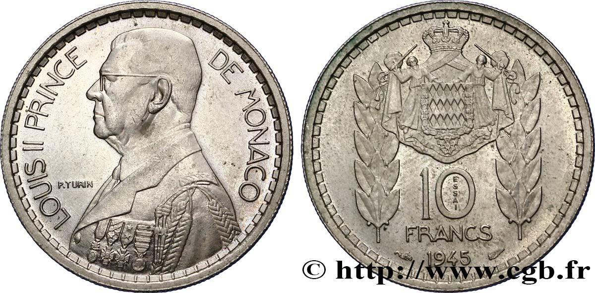 monaco essai de 10 francs louis ii 1945 paris spl fwo 356384 monde. Black Bedroom Furniture Sets. Home Design Ideas