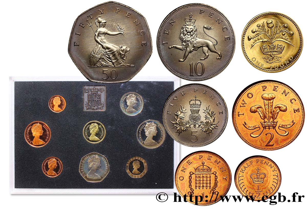 UNITED KINGDOM Série Proof 8 monnaies 1984  MS