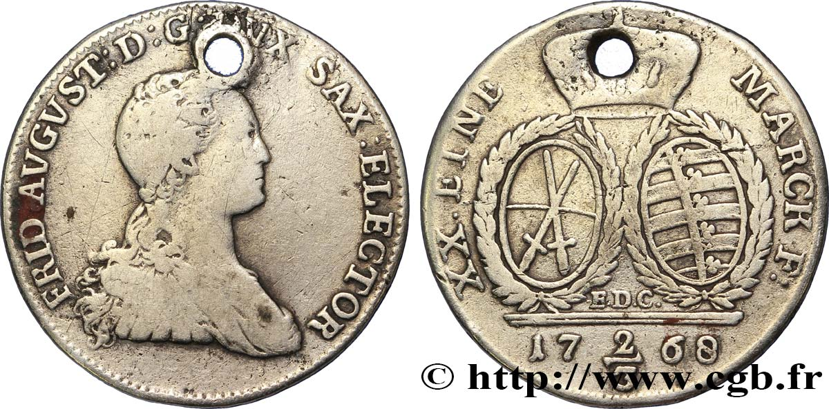 ALLEMAGNE - SAXE 2/3 Thaler Frédéric-Auguste III 1768 Dresde TB