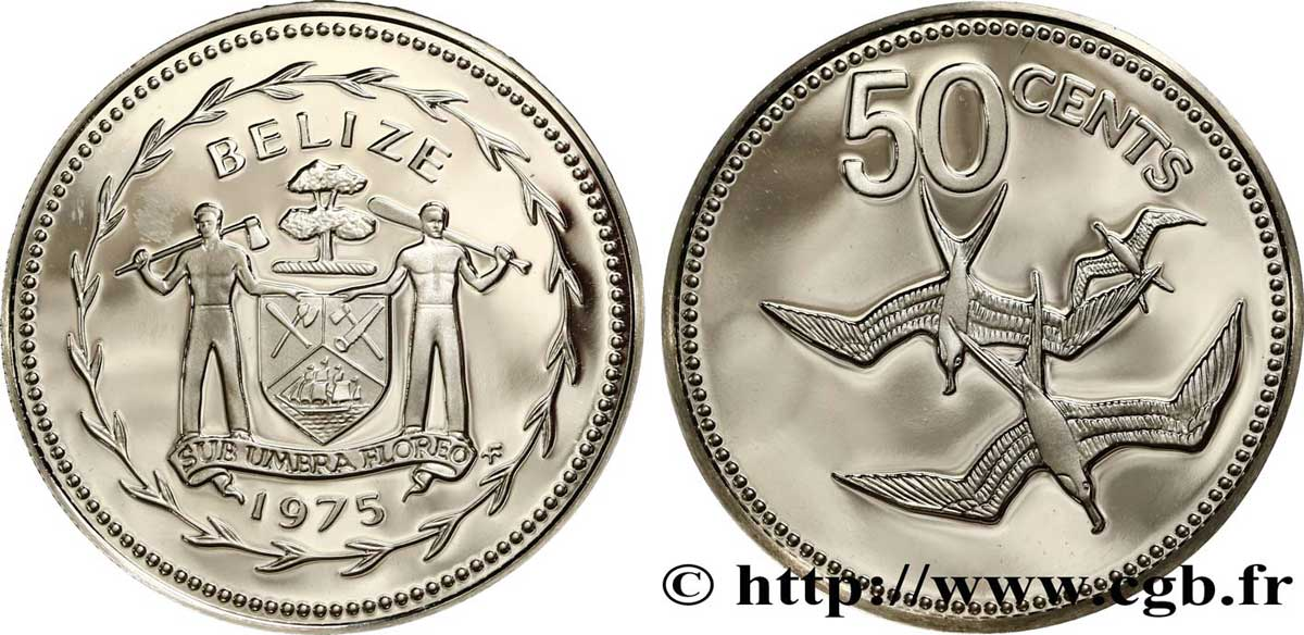 BELIZE 50 Cents Proof Frégate